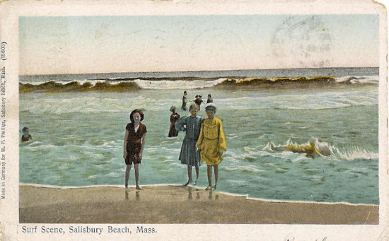 An Old Postcard Of Salisbury Beach